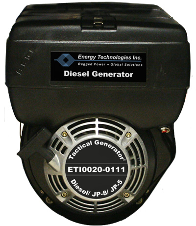Rugged Tactical Generator Uses JP-8, JP-5, DF-1 and DF-2 and Power Conditioners
